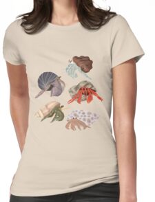 Hermit Crabs Pattern Womens Fitted T-Shirt