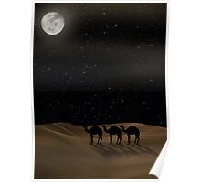 Desert Moon - Camel Crossing Poster