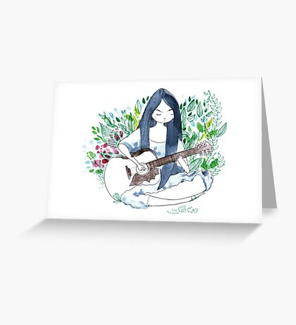 The guitare girl Greeting Card