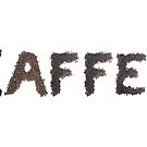 Kaffee (German) word made out of coffee beans by stuwdamdorp