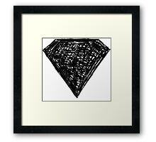 black diamond Framed Print