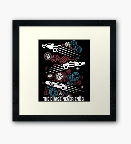 Rocket League Video Game The Chase Funny Gifts Framed Print