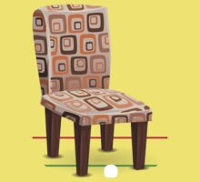Glitch furniture chair chair modpatterncushion Kids Tee