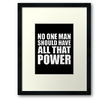 All That Power - Kanye West Framed Print