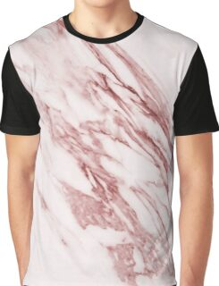 Alabaster rosa - deep pink marble Graphic T-Shirt