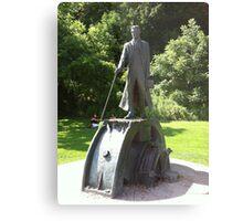 Nikola Tesla Statue Metal Print