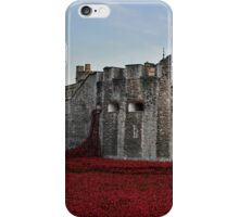 Poppies at the Tower of London - In the evening iPhone Case/Skin
