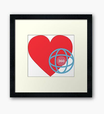 LOVE 360 Framed Print