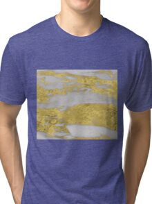 Agria - bright golden marble Tri-blend T-Shirt