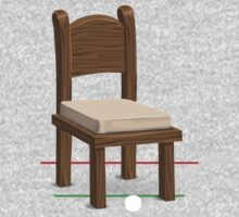 Glitch furniture chair chair wood with whitecushion One Piece - Short Sleeve