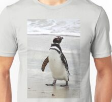 Magellanic Penguin Strolling on the Beach Unisex T-Shirt