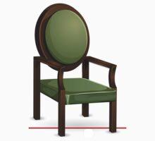 Glitch furniture chair classic green chair One Piece - Short Sleeve
