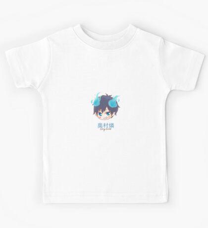 AO NO EXORCIST- Rin Okumura (chibi) Kids Tee