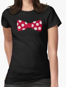 Red bow tie Womens Fitted T-Shirt