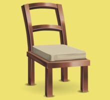 Glitch furniture chair copper metal chair One Piece - Short Sleeve