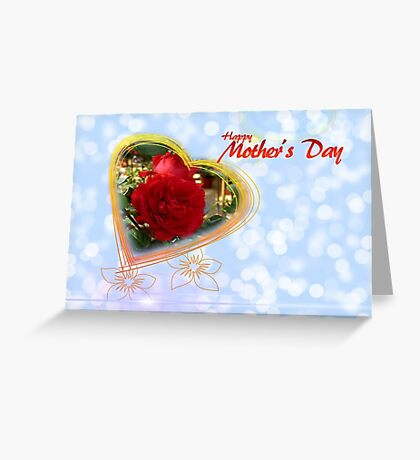 Happy Mothers Day Heart Greeting Card