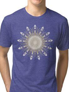 Golden Fractal Mandala Tri-blend T-Shirt