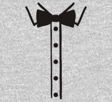 Shirt collar bow tie One Piece - Long Sleeve