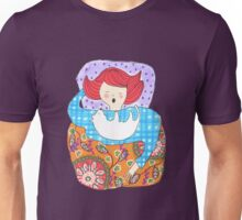 Woman with a tiny dog Unisex T-Shirt