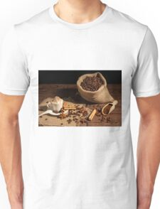 Coffee with whipped cream and cocoa powder Unisex T-Shirt