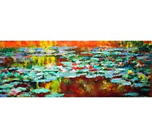 Lake water lilies impressionist landscape Photographic Print