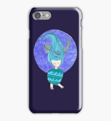 The girl and the whale iPhone Case/Skin