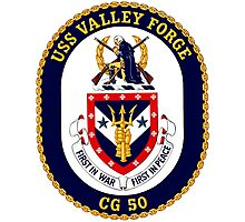 USS Valley Forge (CG-50) Crest Photographic Print