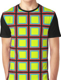 .Pattern F-1. .11% Checkerboard Tile - Black. Graphic T-Shirt