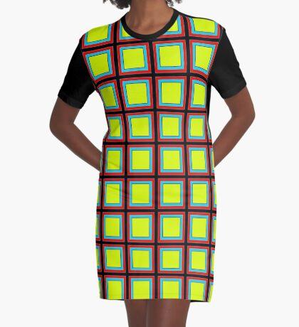 .Pattern F-1. .11% Checkerboard Tile - Black. Graphic T-Shirt Dress