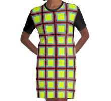 .Pattern F-1. .11% Checkerboard Tile - Black. Graphic T-Shirt Dress