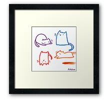 Silly Cats Framed Print