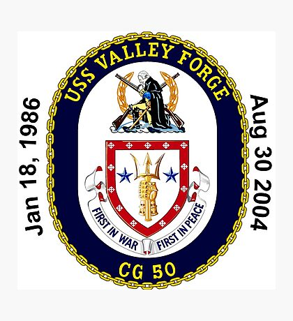USS Valley Forge (CG-50) Decomm Crest Photographic Print