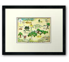 100 Aker Wood Winnie the Pooh By AA Milne Framed Print