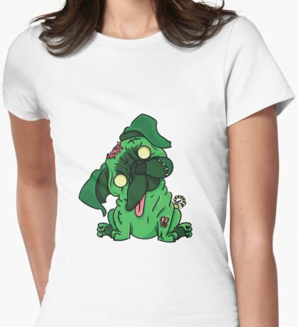 Psychobilly Pets - Pug Womens Fitted T-Shirt