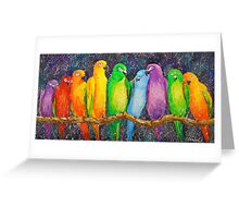 Parrots Greeting Card