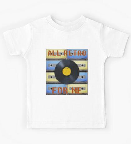 """ALL RETRO FOR ME"" Music Design Kids Tee"
