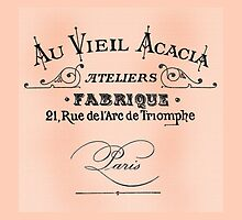 Vintage Antique Shop Sign Parisian by Greenbaby