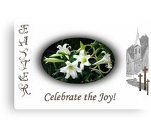 Easter Lilies Fill the Church Canvas Print