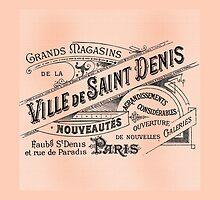 Ville de Saint Denis Vintage Paris Sign by Greenbaby