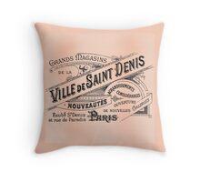 Ville de Saint Denis Vintage Paris Sign Throw Pillow