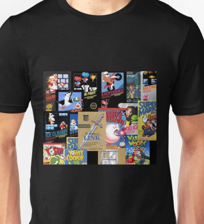 NES Classic Library Poster Unisex T-Shirt