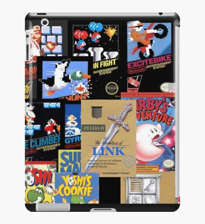 NES Classic Library Poster iPad Case/Skin