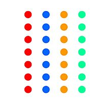DOTs that look like a party Game Photographic Print