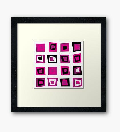 New design blocks inspired with 70s Framed Print