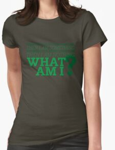 Riddle me this... Womens Fitted T-Shirt
