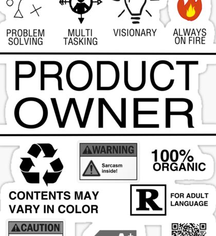 Product Owner Sticker