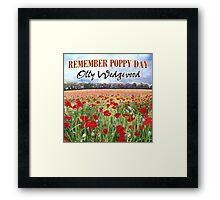 Remember Poppy Day by Olly Wedgwood - CD & Video Art Framed Print
