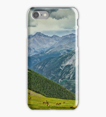 Elk And Longs Peak iPhone Case/Skin
