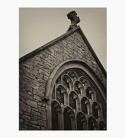 St Michael's Church, Caerwys ~ A Monotone Image Photographic Print