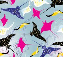 Seamless pattern stingray Sticker